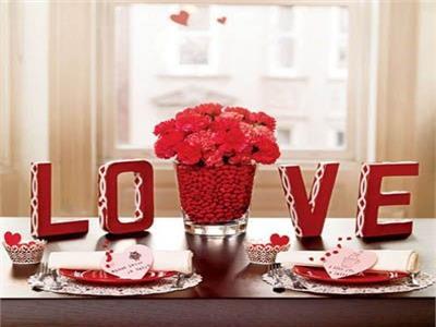 أفكار لتزيين المنزل في عيد الحب 2019
