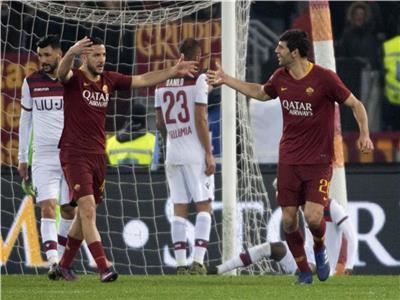 فرحة فيدريكو فازيو بعد تسجيله الهدف الثاني