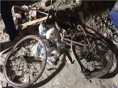 دراجة الإرهابي التي استخدمها في التنقل وظهرت في مقاطع التتبع