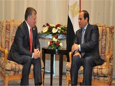 الرئيس عبدالفتاح السيسي و الملك عبد الله الثاني بن الحسين عاهل الأردن،