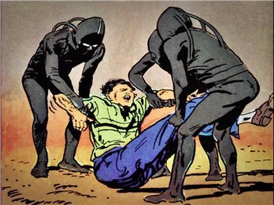 صورة تخيلية لحادث الاختطاف