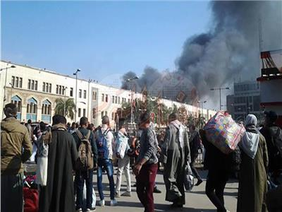 حريق محطة مصر