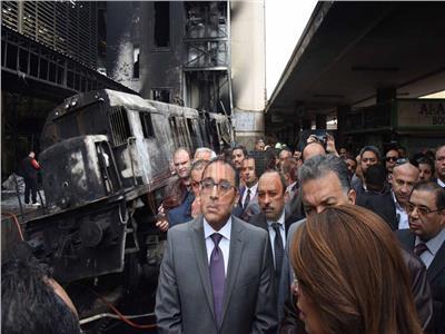 حريق بجرار سكة حديد مصر