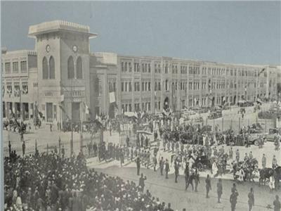 محطة قطارات القاهرة تستعد لاستقبال ملك إيطاليا في ثلاثينيات القرن الماضي