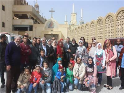 رحلة للدير العذراء مريم بدرنكة في إحدي رحلات تنشيط السياحة