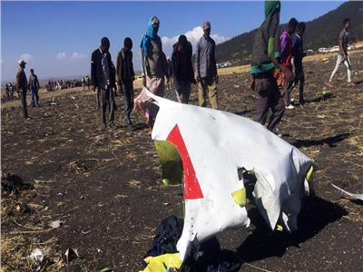 صورة من حادث الطائرة الإثيوبية
