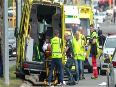 اللحظات الأولى لحادث تفجير المسجدين بنيوزيلندا