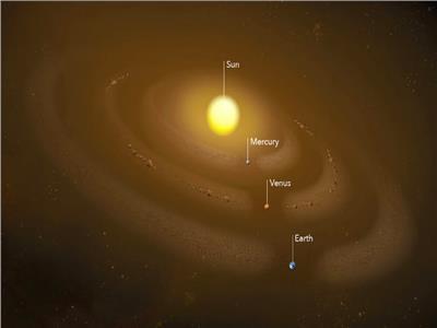 حلقات غبارية تدور حول الشمس