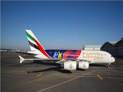 صور .. طيران الإمارات تستعد لبطولة كأس العالم للكريكيت