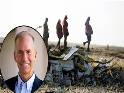 موقع حادث تحطم الطائرة وفي الإطار دينيس مويلنبرج