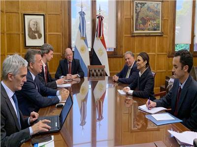 لقاء وزيرة الاستثمار والتعاون الدولي د. سحر نصر بوزير الزراعة الأرجنتيني
