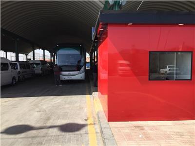لأول مرة انطلاق مشروع النقل الجماعي بمطار برج العرب الدولي