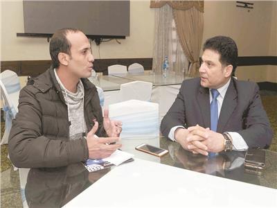 د.حسام مغازي خلال الحوار