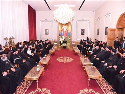 البابا تواضروس يلتقي كهنة مصر القديمة بالكاتدرائية المرقسية