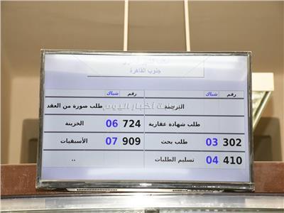 افتتاح اعمال تطوير مكتب شهر عقاري جنوب القاهرة