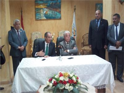 وزير الاتصالات و محافظ جنوب سيناء