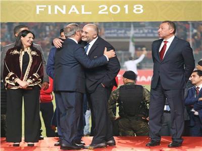 طارق بشماوي وحمدي المدب رئيس الترجي التونسي