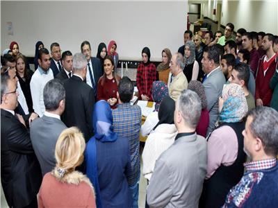 وزيرة الاستثمار والتعاون الدولي تتفقد المنطقة الحرة بمدينة نصر