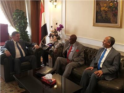 وزير قطاع الأعمال يبحث مع وزير الاقتصاد التشادي فرص التعاون المشترك