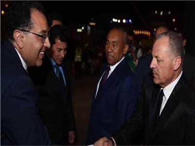 هاني أبو ريدة ومصطفى مدبولي رئيس الوزراء