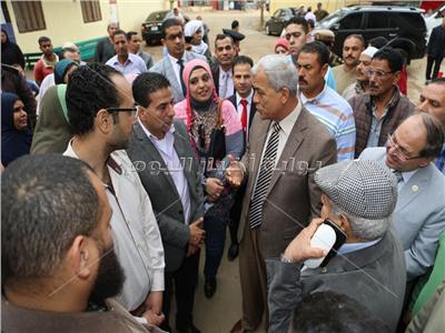 المنوفية ورئيس الجامعة يتفقدان الأعمال الإنشائية للمعهد الفنى للتمريض بقرية منشأة سلطان