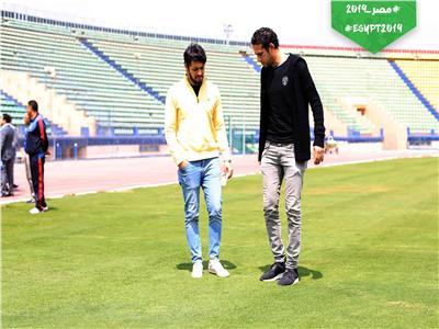 محمد فضل وحسام الزناتي في ستاد الكلية الحربية