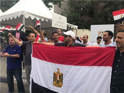 الجالية المصرية بالمغرب تدلي بأصواتها في الاستفتاء على التعديلات الدستورية