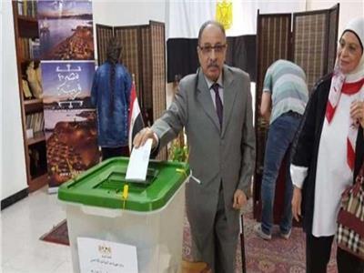 تصويت المصريون بالخارج على  التعديلات الدستورية
