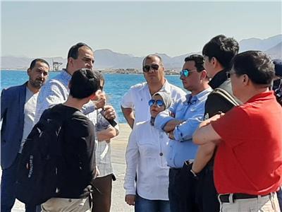 خلال زيارة وفد شركة صينية  لميناء سفاجا