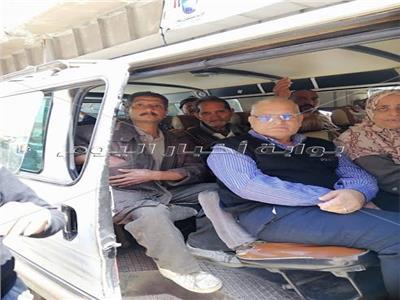 أحمد شيبة يقود مسيرة بالسيارات أمام لجان الاستفتاء بالإسكندرية