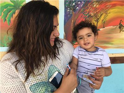 أصغر مشارك في الاستفتاء على التعديلات الدستورية بمصر الجديدة