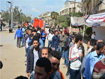 الشباب حاضر في المطرية للاستفتاء على التعديلات الدستورية