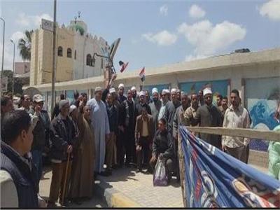 إقبال كبير على لجان الإقتراع بمركز شباب سموحة للتوصيت على التعديلات الدستورية بالإسكندرية