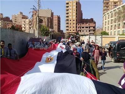 مسيرة شبابية بمدينة القناطر الخيرية