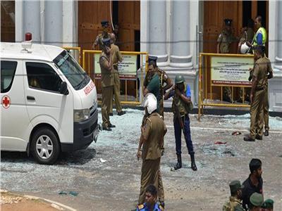 صورة من أثار تفجيرات سيريلانكا