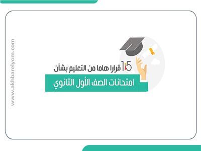 15 قرارا هاما من التعليم بشأن امتحانات الصف الأول الثانوي