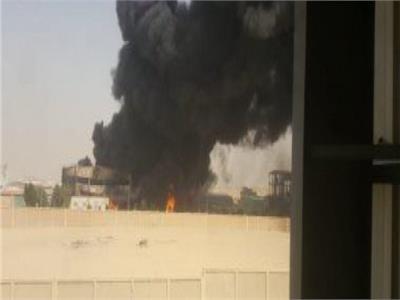 النيابة تعاين حريق مصنع بمدينة بدر لمعرفة أسباب الحادث
