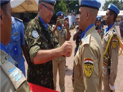 تكريم 180 من حفظة السلام المصريين في الكونغو من الأمم المتحدة