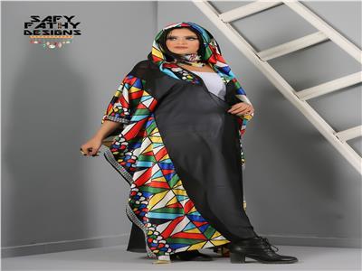 أزياء محتشمة مزيج بين التطريز العربي وموتيفات عربية