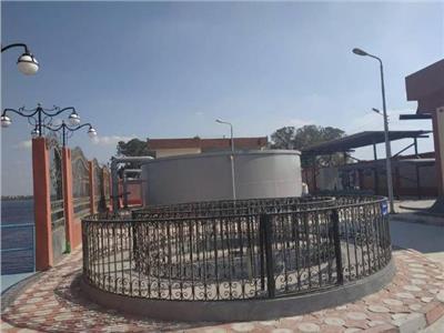 محطة مياه الشرب بقرية المجد بمركز الرحمانية