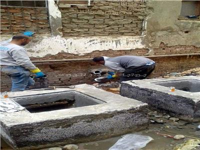 اعمال الاحلال والتجديد لوصلات المياه والصرف الصحى بنجع كويز