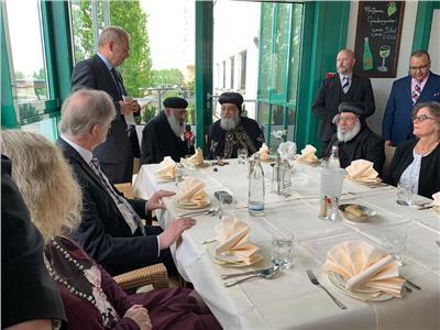 استقبال رسمي للبابا تواضروس في مقاطعة شمال الڤيستفاليا بألمانيا