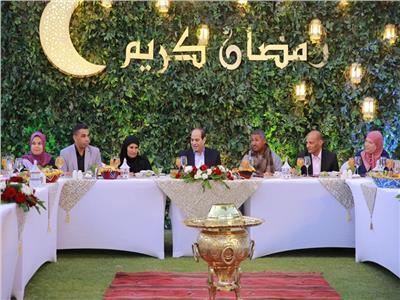 الرئيس السيسي خلال حفل الإفطار