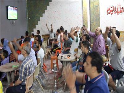 انفاعل الجماهير اثناء المباراة
