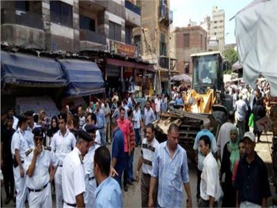 حملة ازالات لكافة إشغالات المقاهى بوسط الإسكندرية