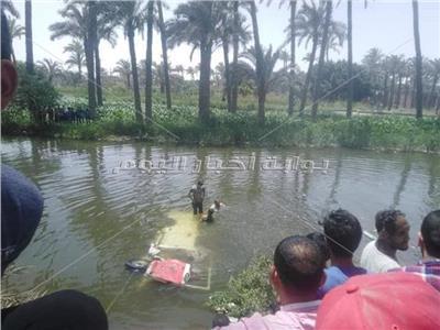 ضحايا حادث ميكروباص ترعة الجيزاوية بالبدرشين