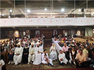 كنيسةالمعادي تصلي لطلاب الثانوية العامة