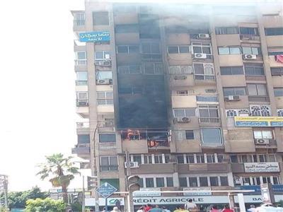 صورة من مكان الحريق