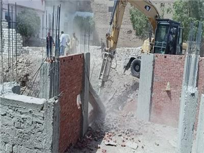 حملة إزالات البناء المخالف في أسيوط
