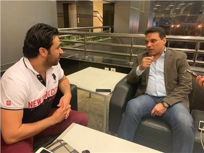حسام البدري مع محرر بوابة أخبار اليوم « إبراهيم مدكور »